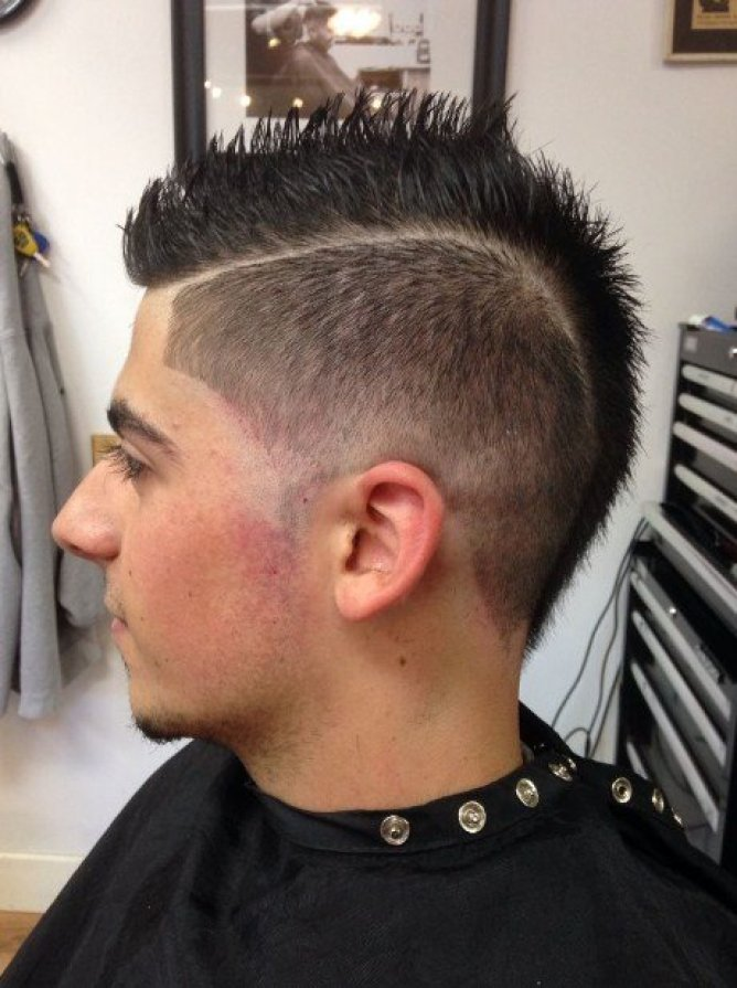 Mohawk Taper Fade Hairstyle For Men