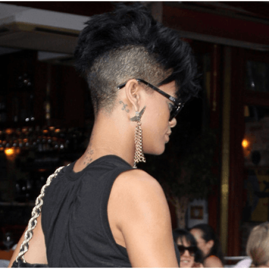 Shaved Back Hairstyle For Women