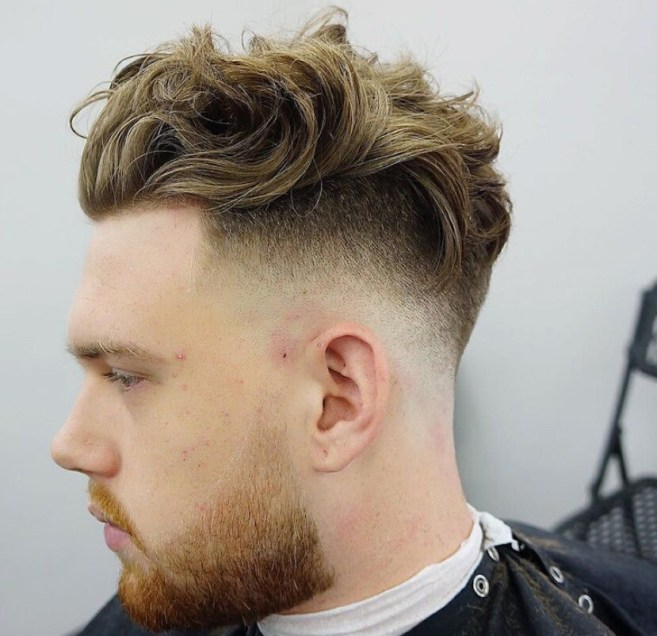 Balded Fade Long Loose Hairstyle for Men