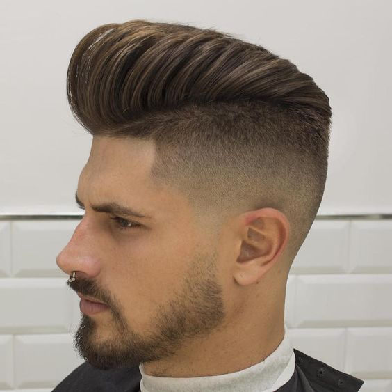 High Fade Pompadour Hairstyle For Men