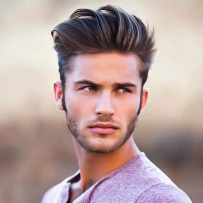 Longer Hair With Short Sides Fade Hairstyle For Men