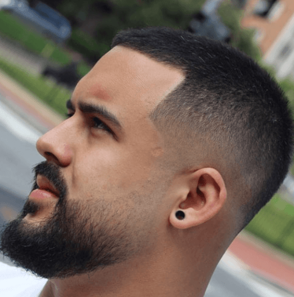Low Fade Haircut With Beard