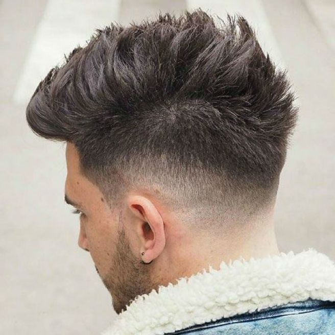 Tapered Fade and Flipped Hairstyle For Men