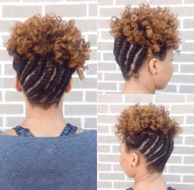 Braided Updo with Curls