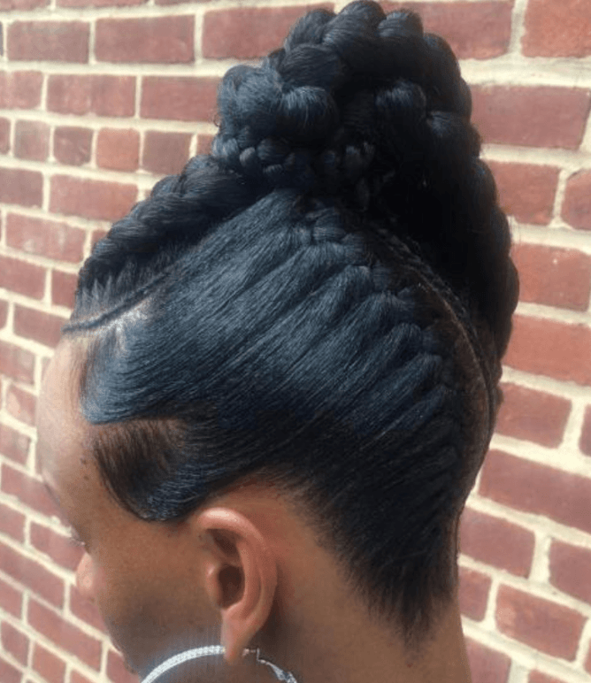 Mixed Braids Updo Hairstyle