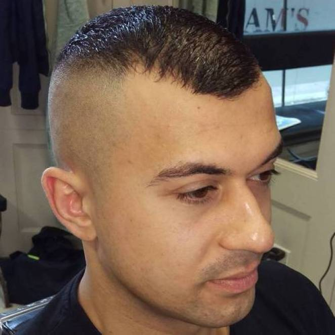 Military Look for Receding Hairline High and Tight
