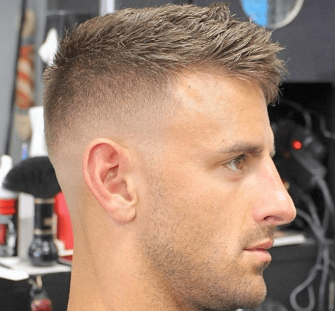 Brush Cut with Fade