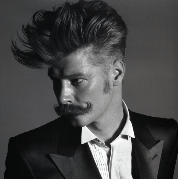 Pompadour with a Mustache