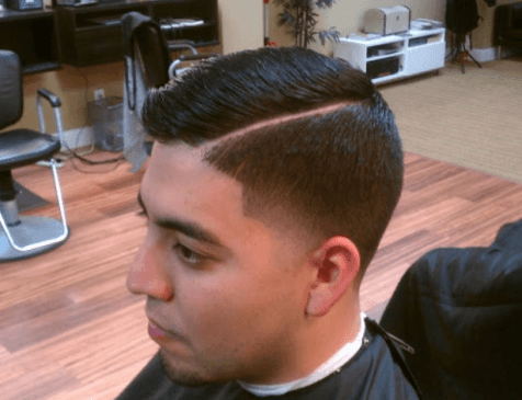 Short Comb Over with Buzz Fade