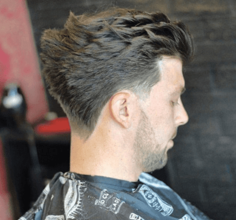 Tapered Comb Over with Layers