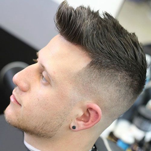 Bald Fade with Brushed Up Hair