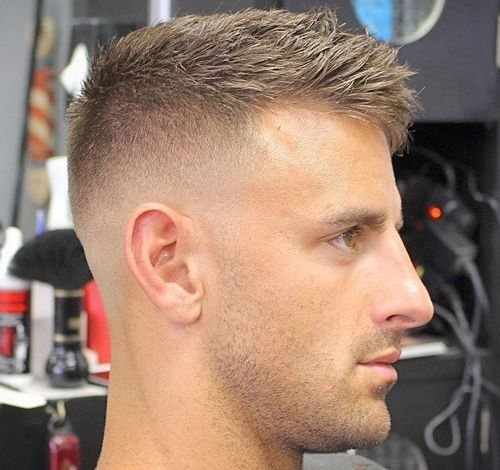 Bald Fade with Crew Cut