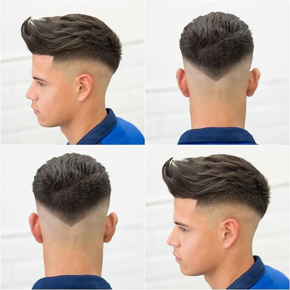 Disconnected Undercut with Slicked Back Hairstyle