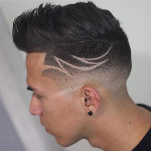 Low skin Fade + Hair Designs