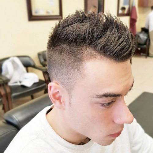 Razor bald Faded with Faux Hawk