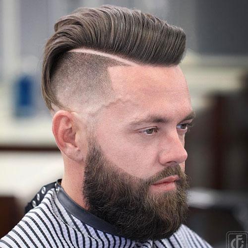 Short Ivy League Beard haircut