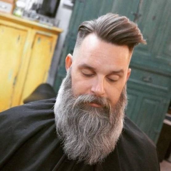 Short Sides + Long Top + Long Beard