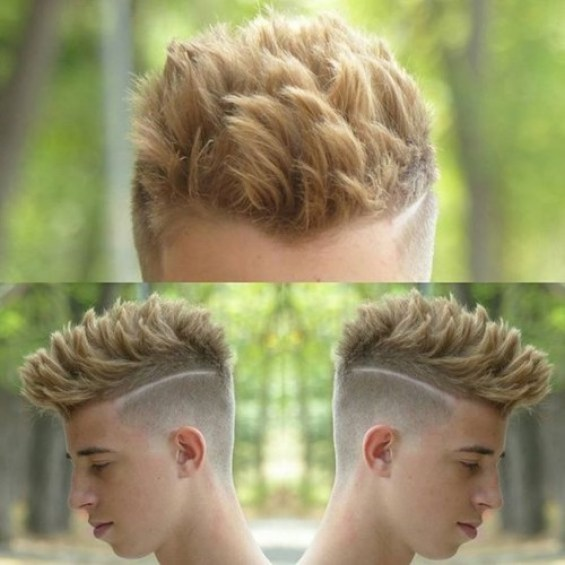Short Sides Long Top with Blonde Hair