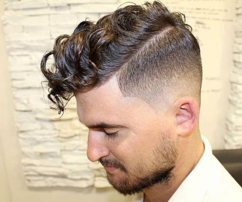 Short Sides with Curly Side Parted