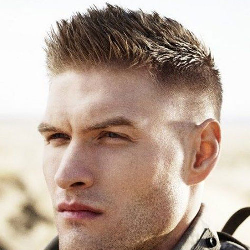 Short Sides with long Military-inspired Haircuts