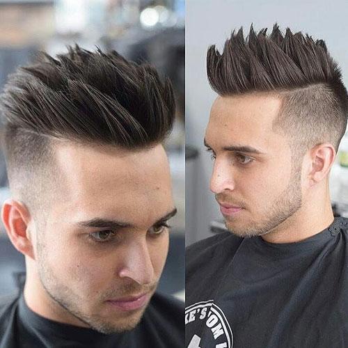 Spiky Hair High Fade Hipster Haircut