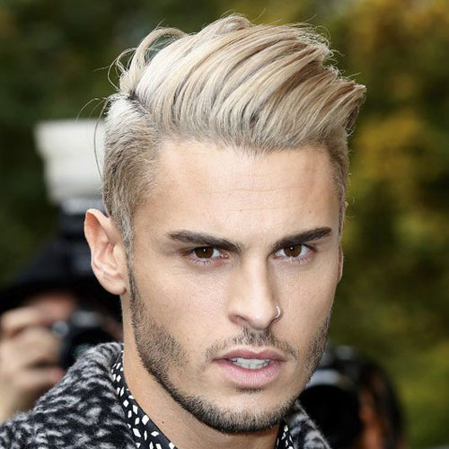 angular comb over with tapered sides Hipster Haircut
