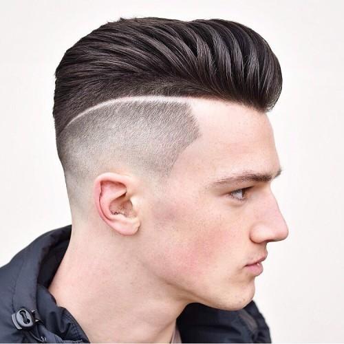 sharp fade haircut with hard part Hipster Haircut