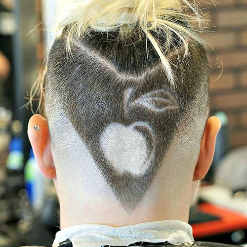 v-shaped haircut with design Hipster Haircut