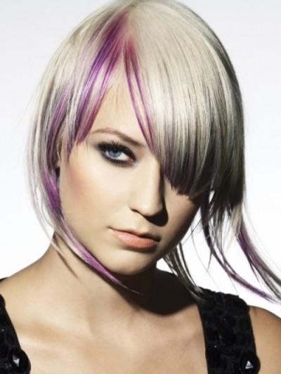 Blonde & Purple Bob