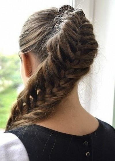 Gorgeous and huge fishtail braid ponytail