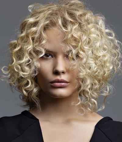 Kinky Blond Curls Bob