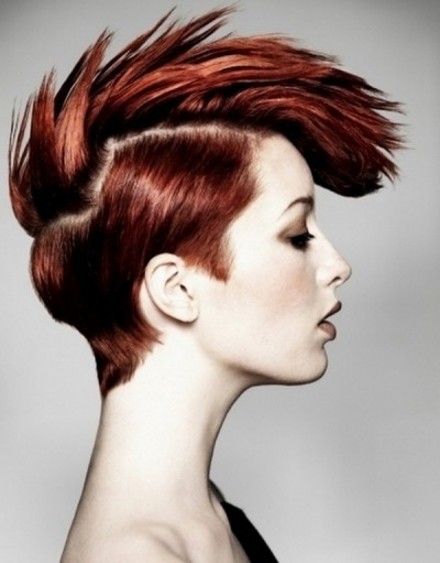 Red Fauxhawk PIxie Style