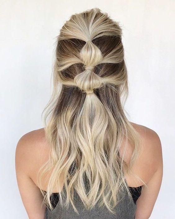Bubble Braid Ponytail for Friyay Hair