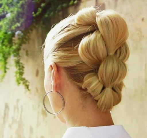 Bubble Ponytail For Short Hair