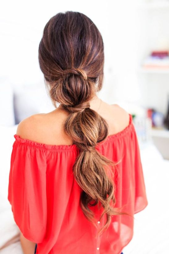 Bubble Ponytail Hairstyles for Lazy Days