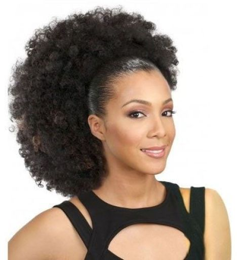 Pom Ponytail for Afro-American Women