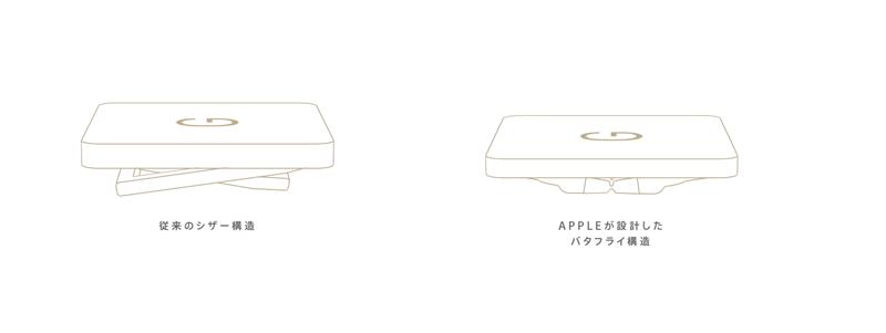 MacBook バタフライキーボード 3