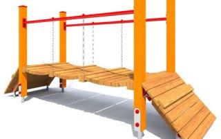 Trap linowo-klepkow z rampami dla dzieci