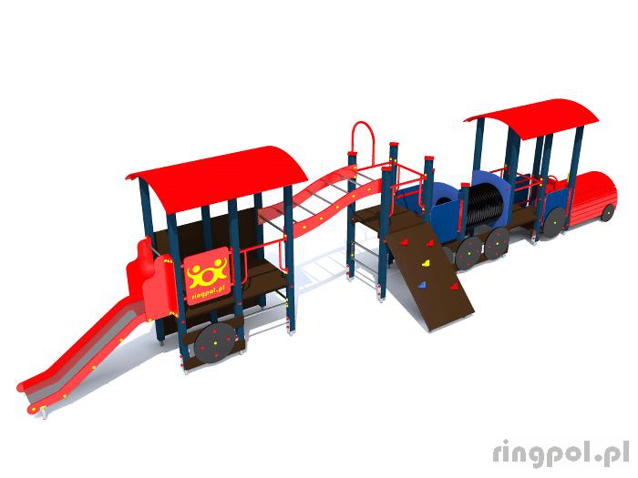Plac zabaw dla dzieci - Lokomotywa-pociąg