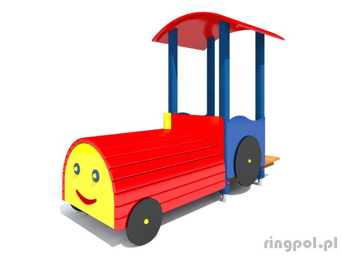 tematyczny plac zabaw lokomotywa z061