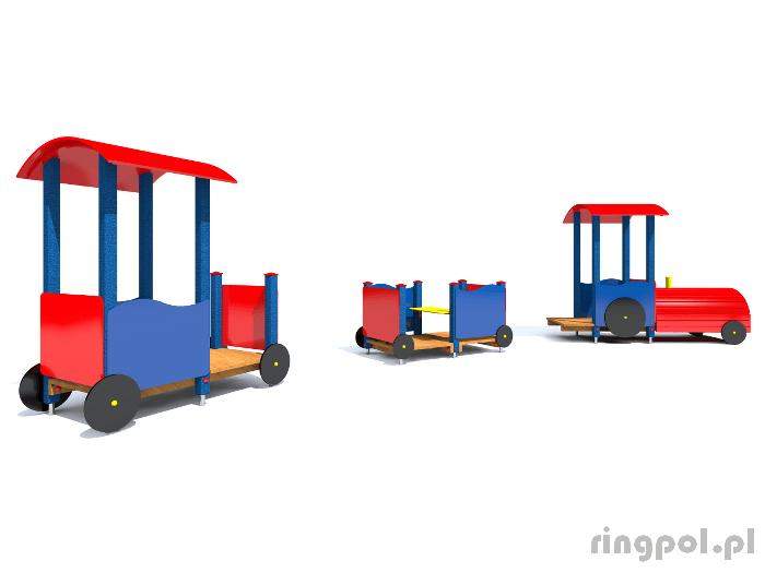 Plac zabaw dla dzieci - Lokomotywa z wagonami
