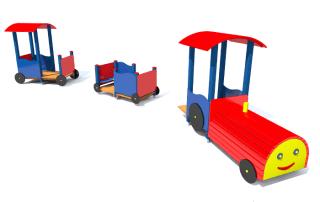 zestaw zabawowy lokomotywa z wagonami z061x -Tematyczne place zabaw