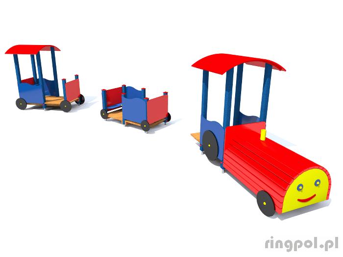zestaw zabawowy lokomotywa z wagonami z061x