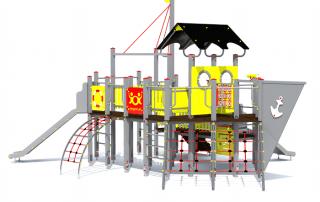plac zabaw Statek średni z linami [z115m] -Tematyczne place zabaw