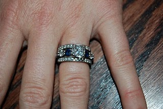 Cushion Cut Engagement Ring With Sapphires Double