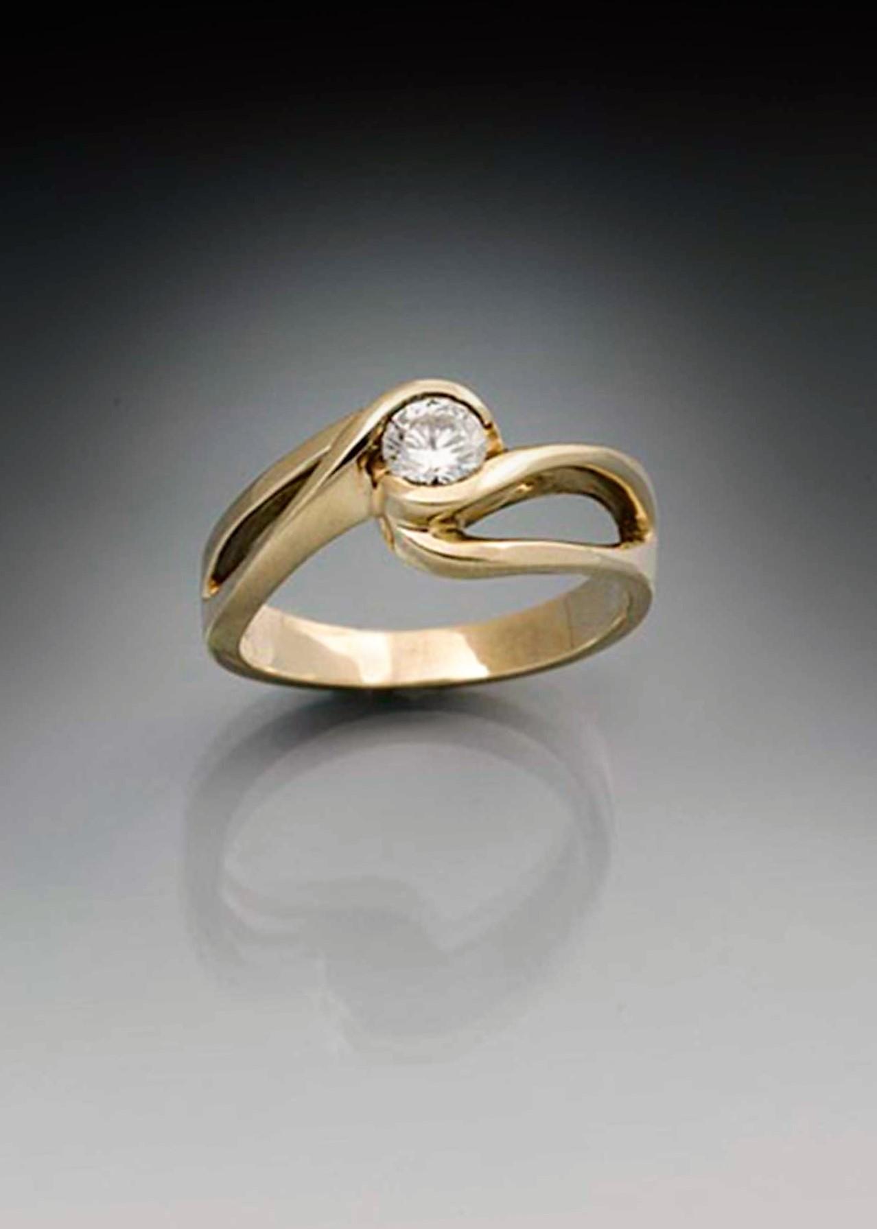 Eternity Swirl Small Diamond Rings Unique