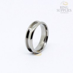 6mm Titanium RIng Blank with 3mm wide Channel