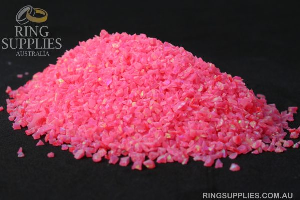 Hot Pink Crushed Opal Chips
