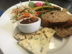 Traditional Dorset Blue Vinney Ploughmans, The Railway Craft Pub and Kitchen New Forest Ringwood Near Christchurch