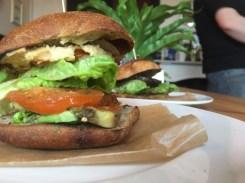 Vegan Burgers at the Railway Craft Pub & Kitchen. Ringwood New Forest